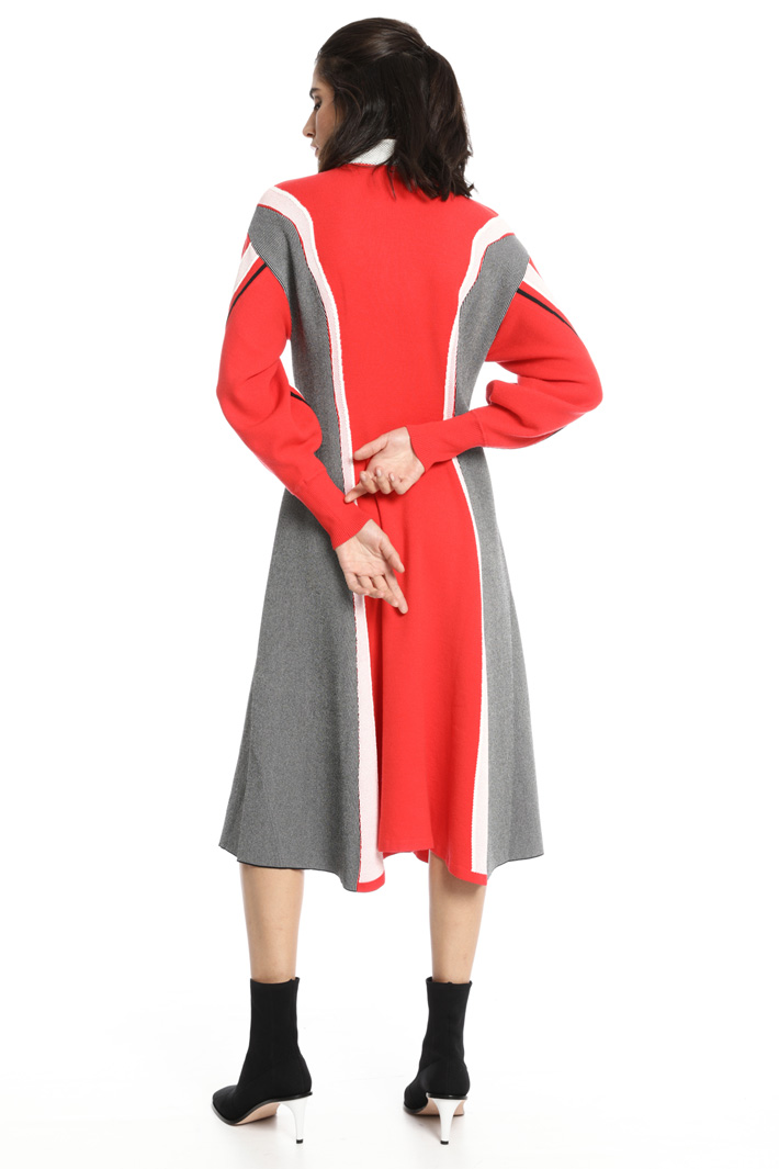 Wool dress with intarsia Intrend
