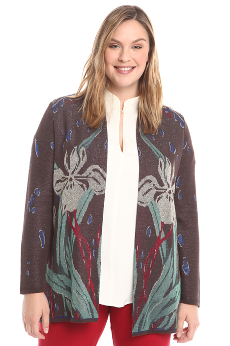 Cardigan fantasia in jacquard Intrend