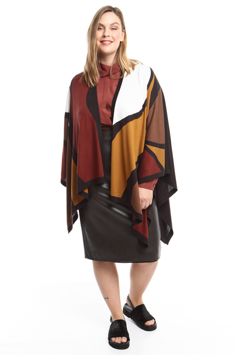 Silk and cashmere cape Intrend