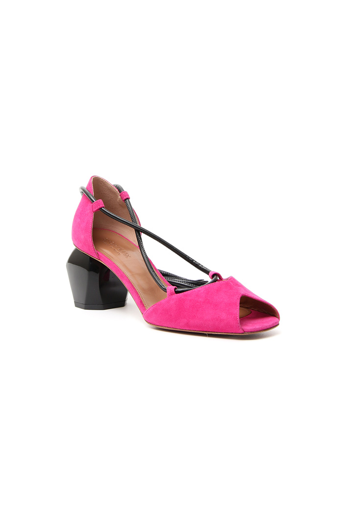 Suede open-toe shoe Intrend
