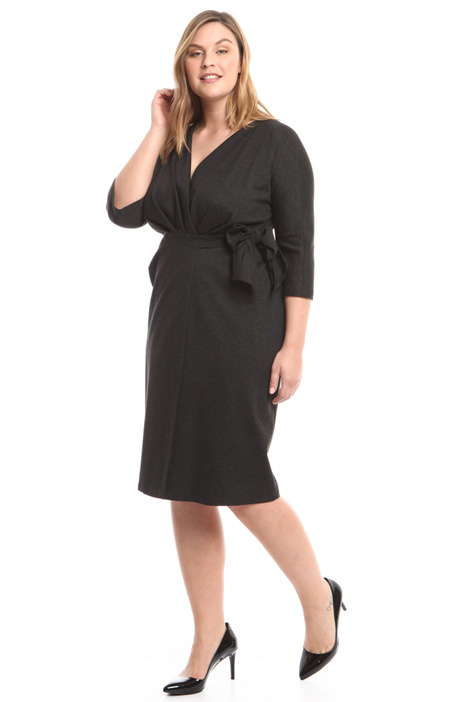 Belted jersey dress Intrend