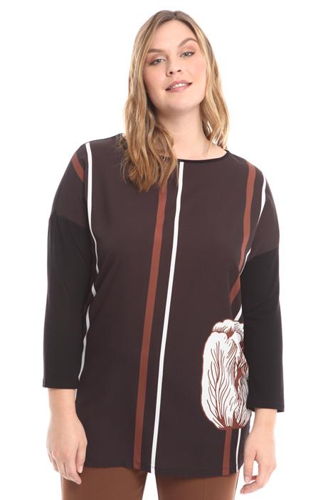 T-shirt a kimono con stampa Intrend