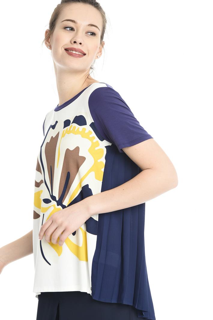 T-shirt con retro plissé Intrend