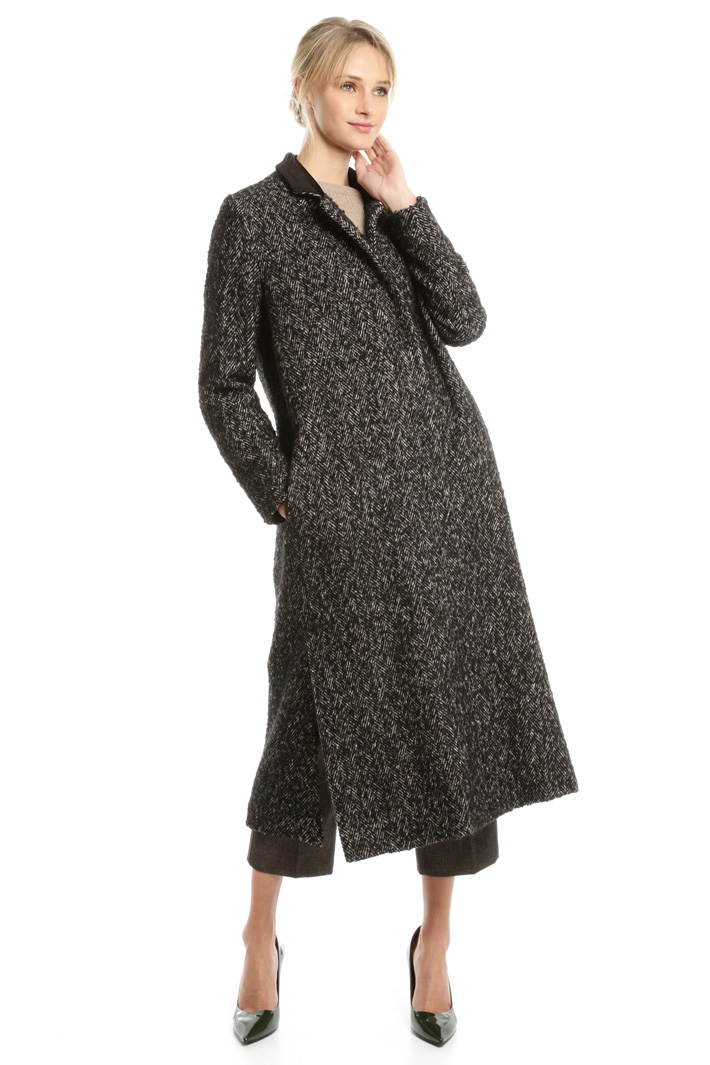 Cappotto in tweed di lana Intrend