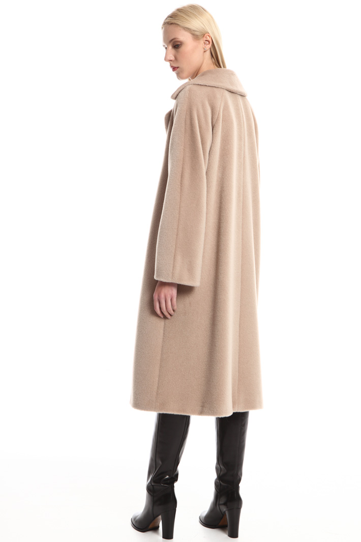 Flared alpaca coat Intrend