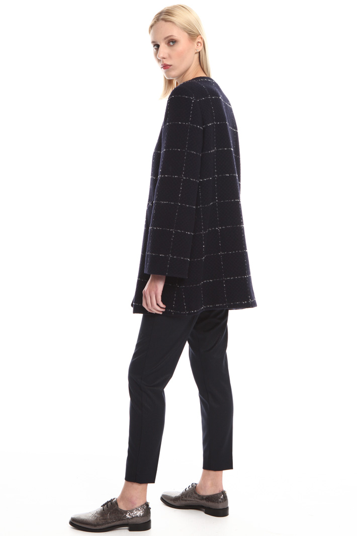Checked wool coat Intrend