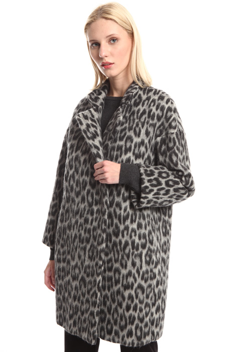Animal print wool coat Intrend