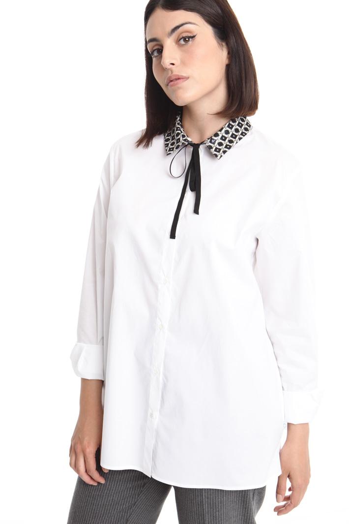 Jacquard-patterned collar shirt Intrend