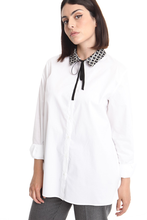 Jacquard-patterned collar shirt Intrend