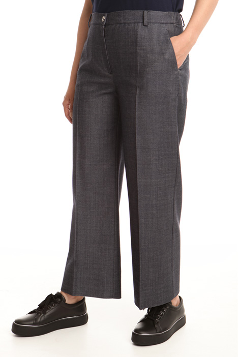 Pantalone linea dritta in lana Intrend