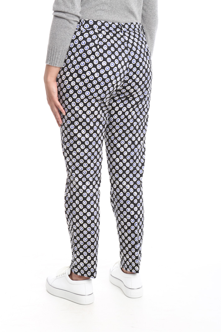 Pantalone slim in raso Intrend