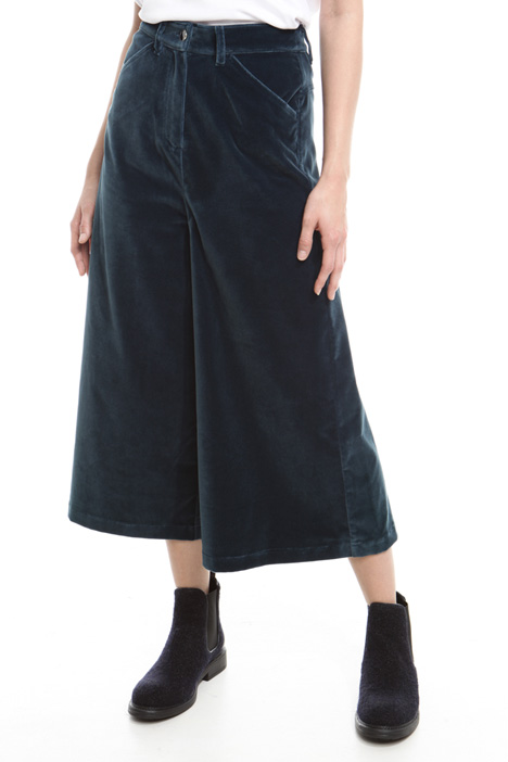 Pantalone cropped in velluto Intrend