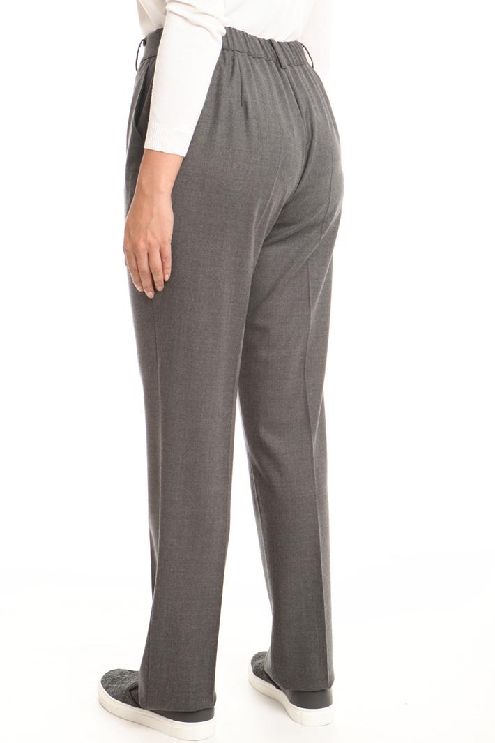 Pantaloni in pura lana Intrend