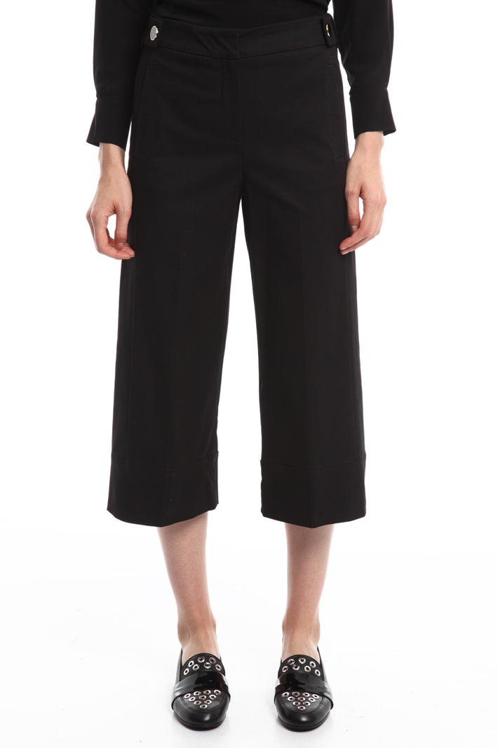 Cropped gabardine trousers Intrend