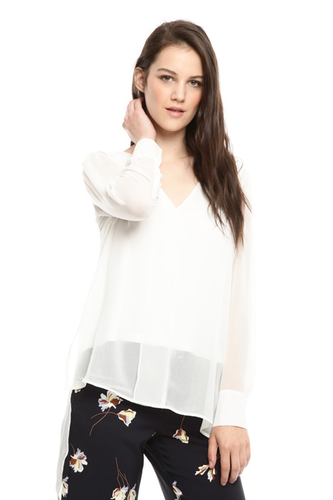 Blusa fluida in georgette Intrend