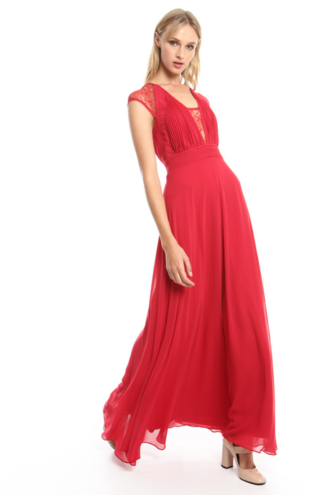 Long dress with lace inserts Intrend