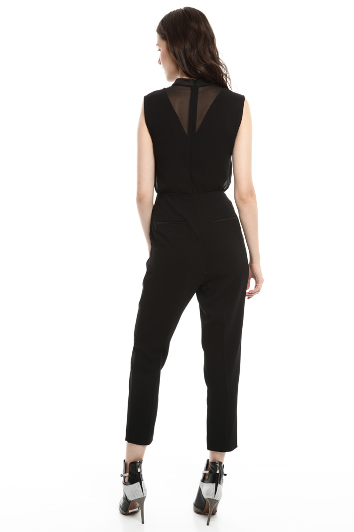 Sleeveless crepe jumpsuit Intrend