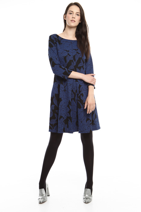 Floral jacquard dress Intrend