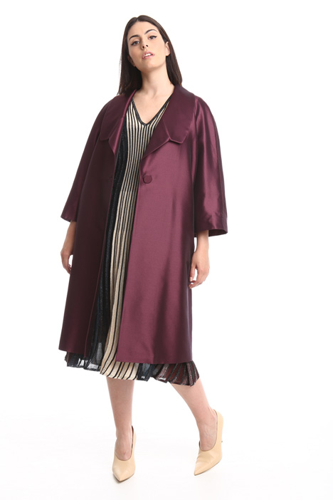 Silk and wool duster coat Intrend