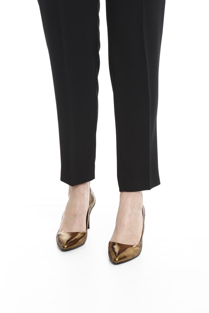 Pantalone slim in crepe Intrend