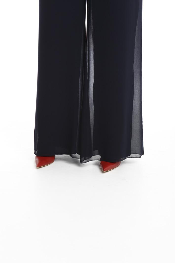 Pantaloni palazzo in georgette Intrend