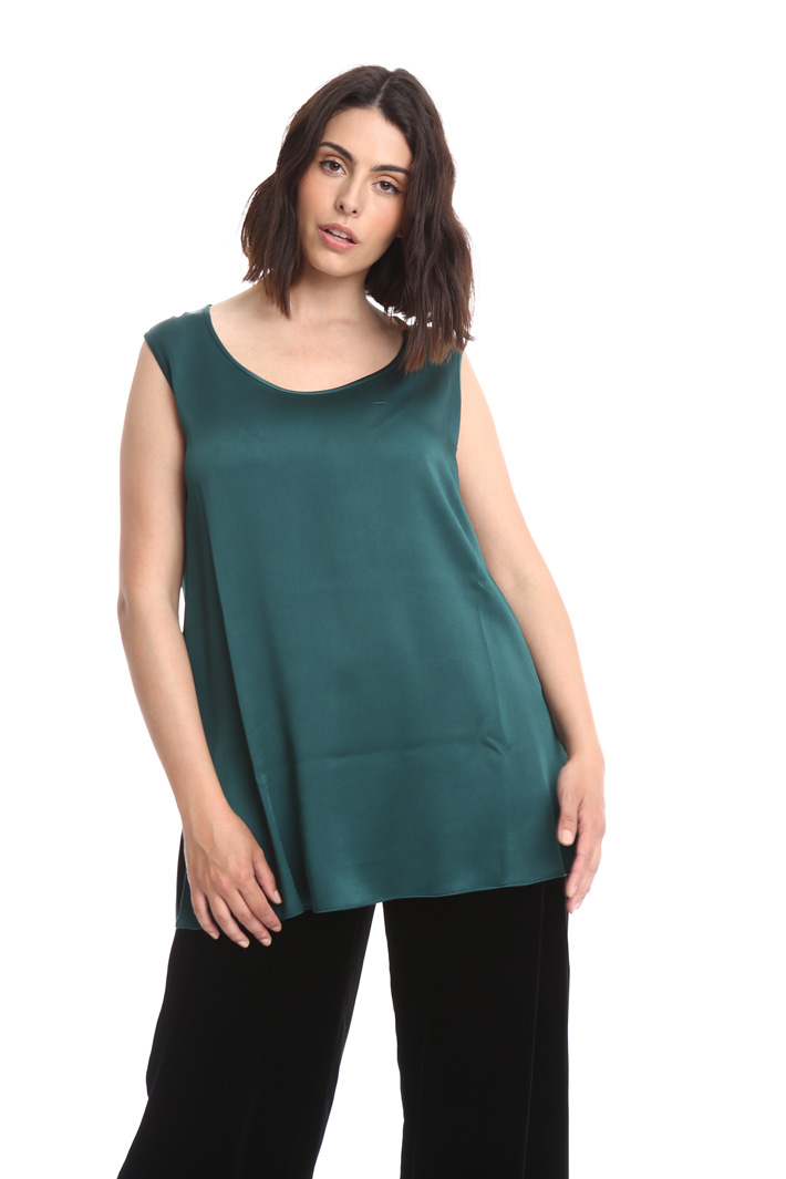 Top in crepe lucido Intrend
