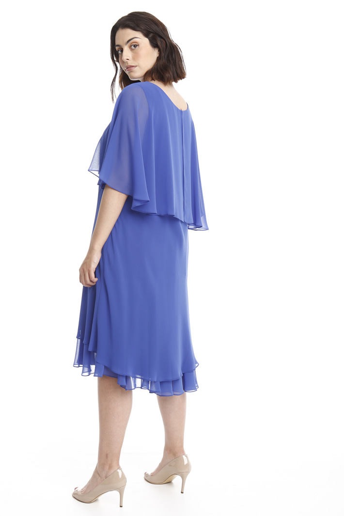 Abito con balza in georgette Intrend