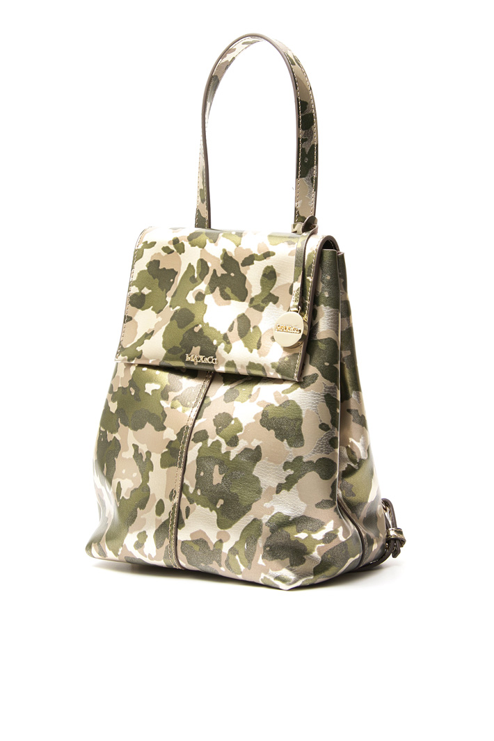 Laminated leather backpack Intrend