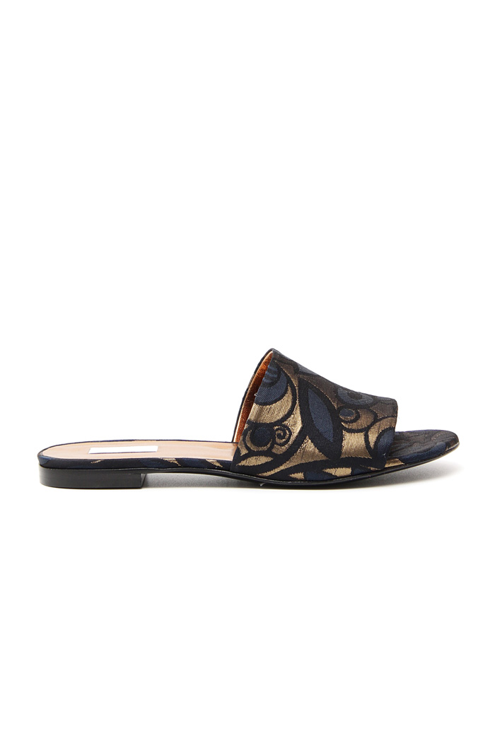 Flat fabric sandals Intrend