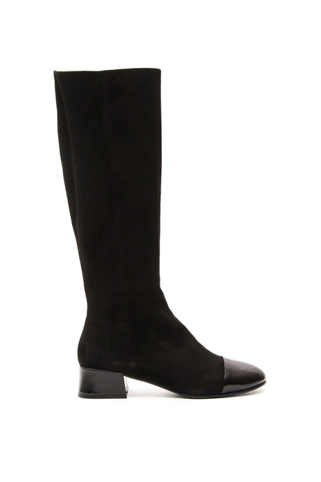 Two-material boots Intrend