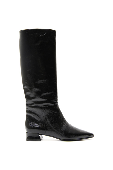 Patent leather high boots Intrend
