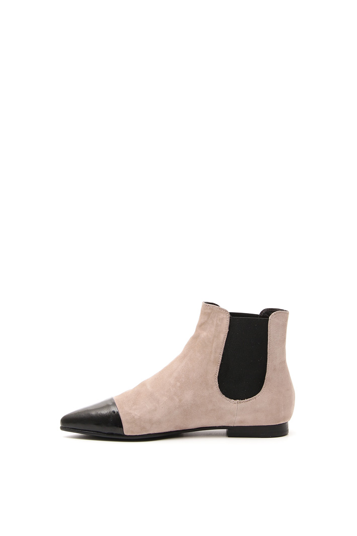 Two-tone suede boots Intrend