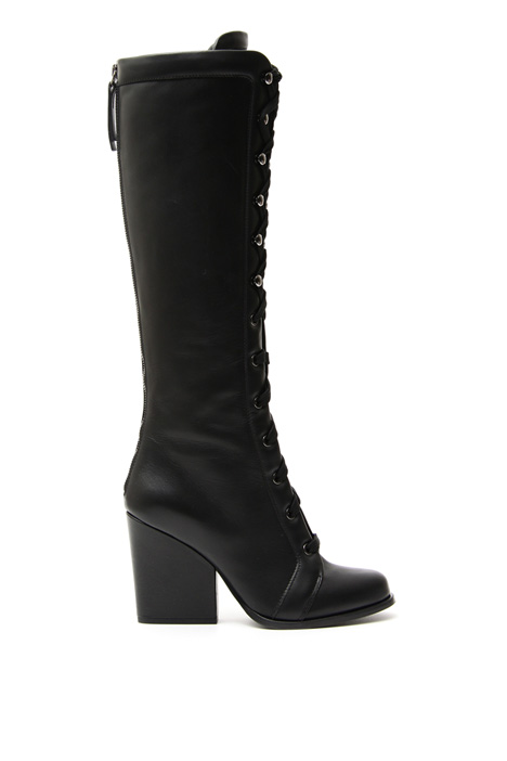 Lace-up leather boots Intrend