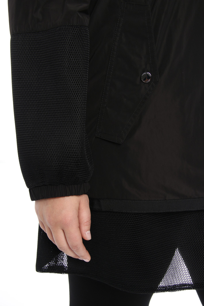 Bomber jacket with net inserts Intrend