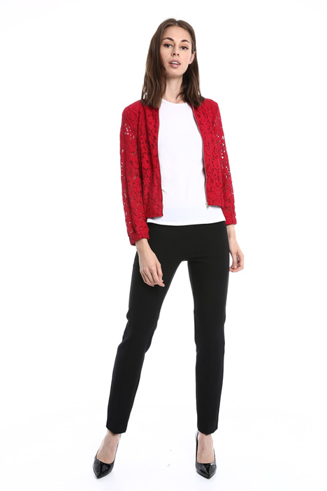 Lined lace bomber jacket Intrend