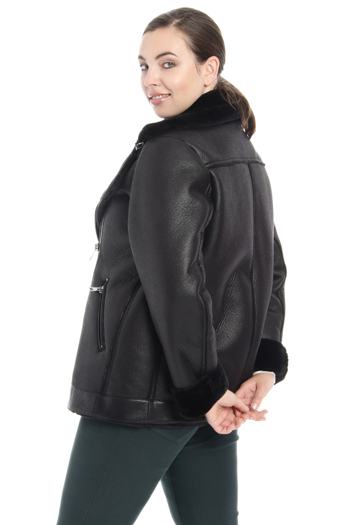 Sheepskin-effect jacket Intrend