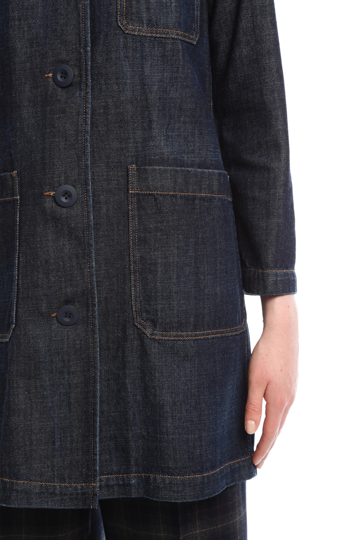 Long denim jacket Intrend