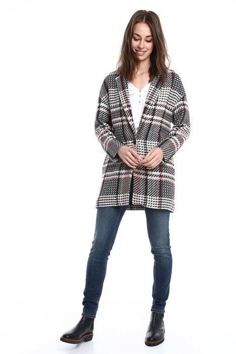 Unstructured checked coat Intrend