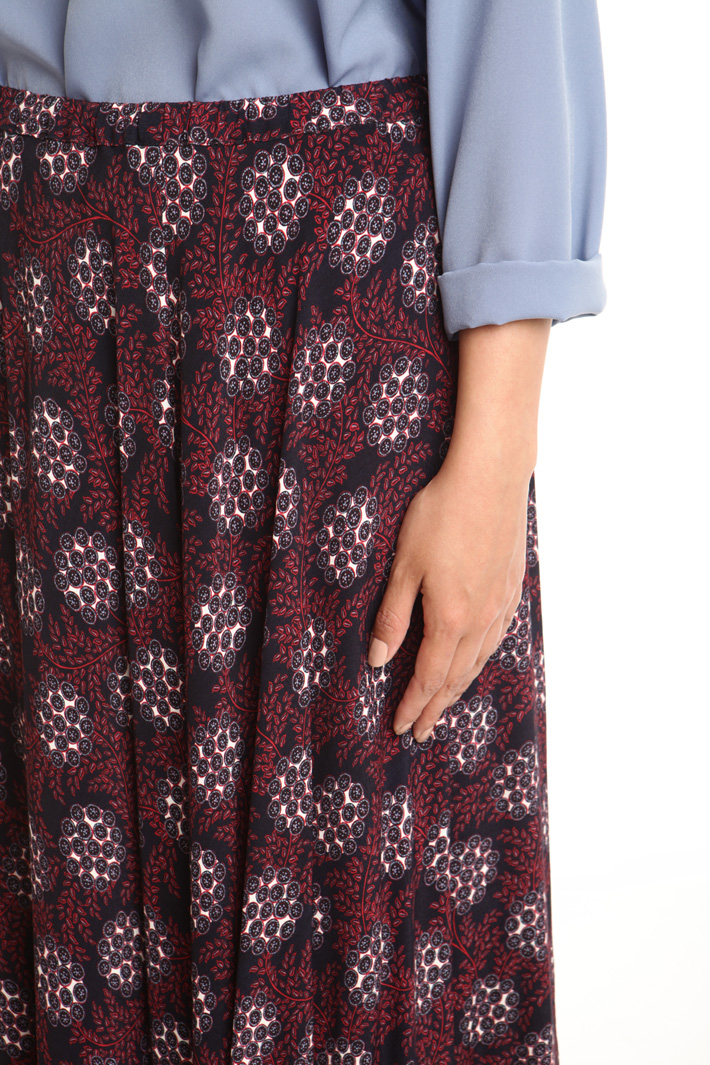 Long printed skirt Intrend