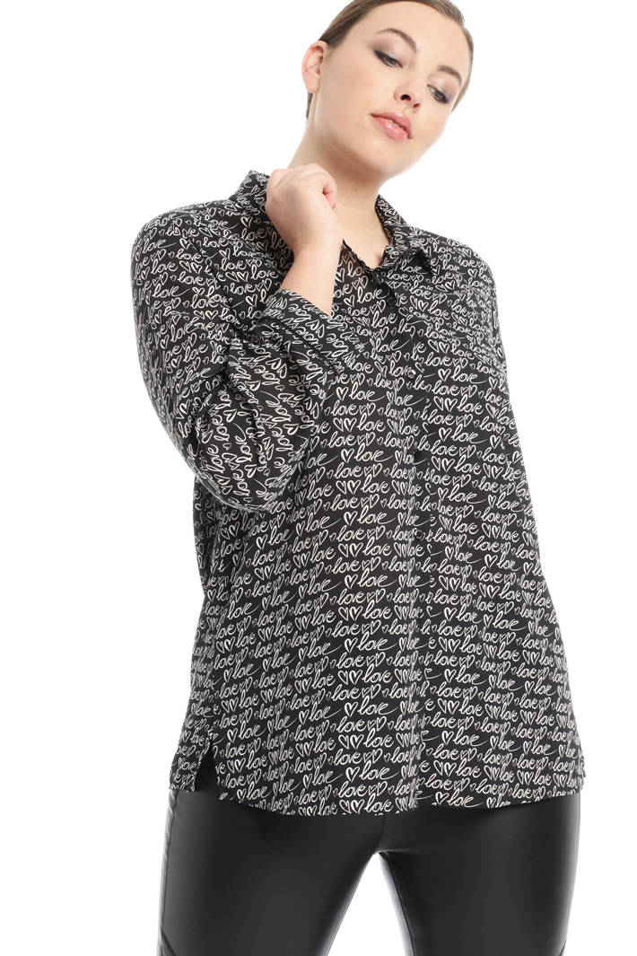 Shirt in fluid fabric Intrend