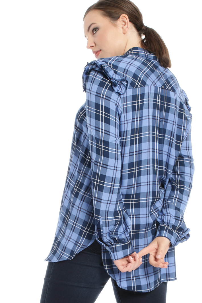 Checked viscose shirt Intrend
