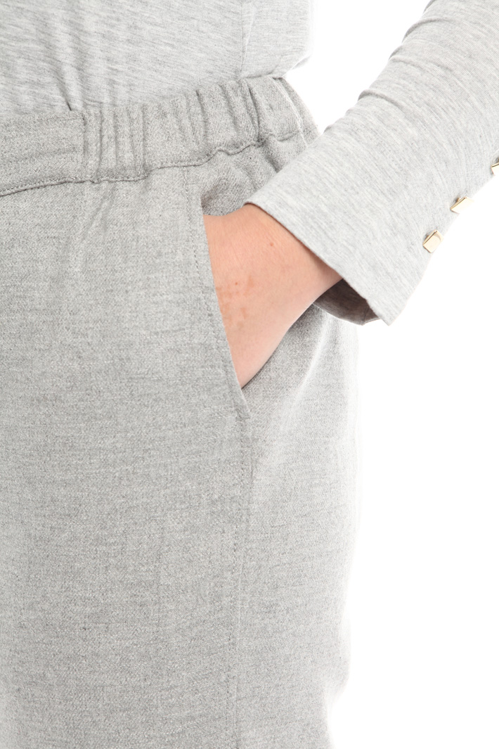 Jogging style trousers in wool Intrend