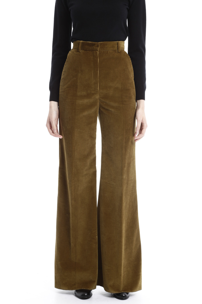 Ribbed velvet trousers Intrend