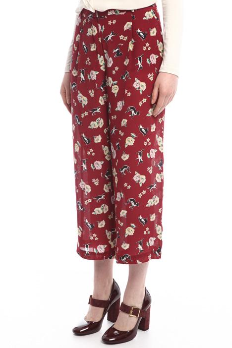 Pantaloni in pura seta Intrend