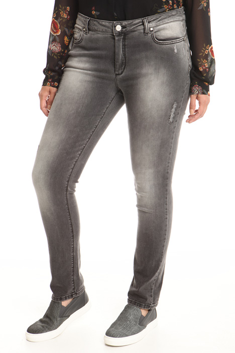 Jeans con graffi lurex Intrend