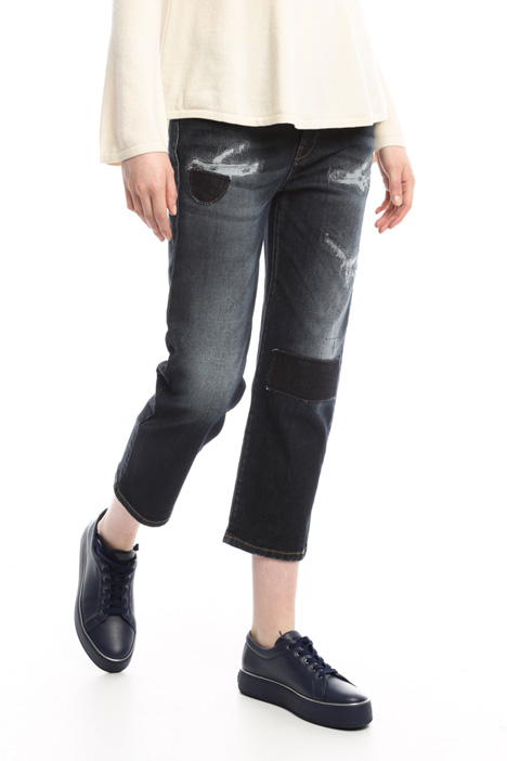 Jeans with fake tears Intrend