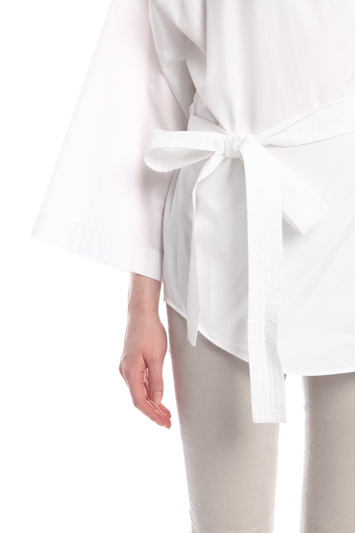 Camicia a kimono in popeline Intrend