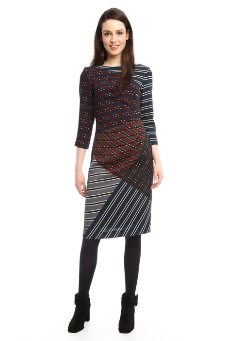 Multi-coloured patterned dress Intrend