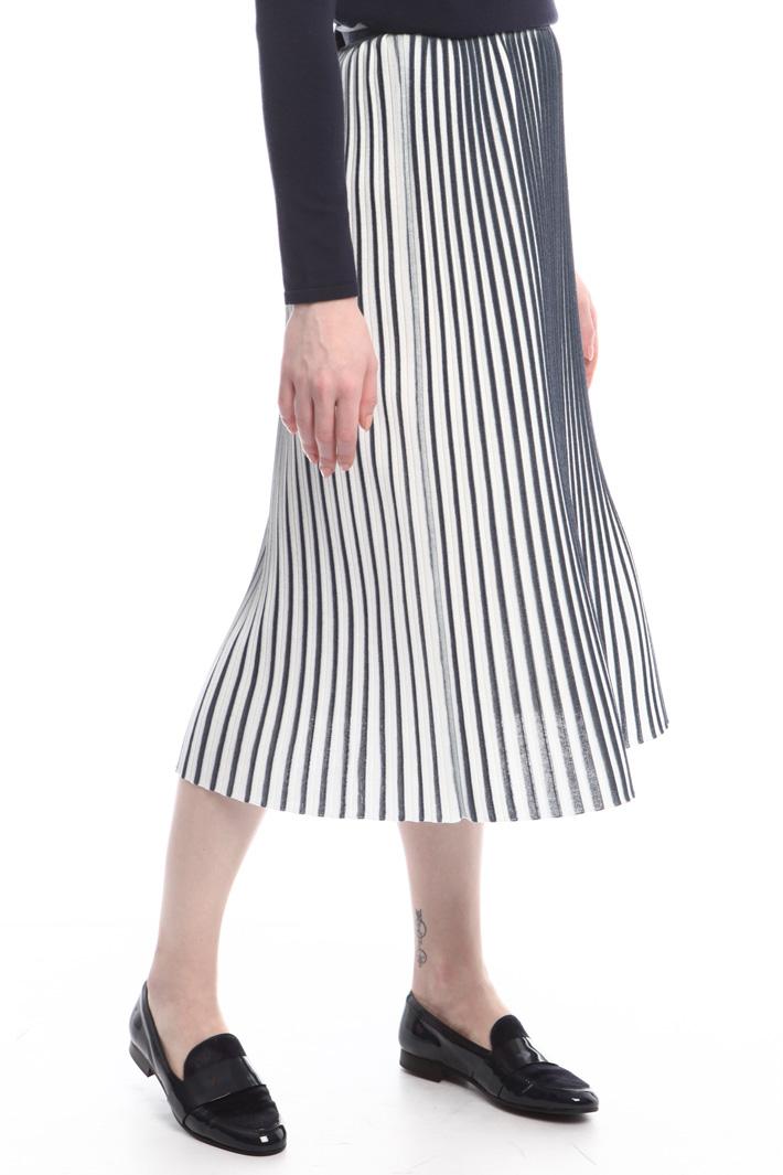 Knitted plissé skirt Intrend