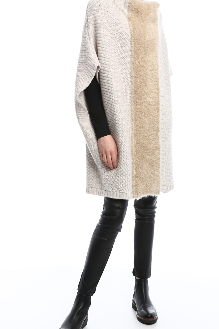 Oversized knitted coat Intrend